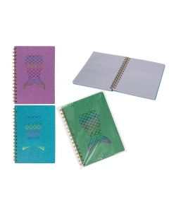Out of the blue Mermaid Spiraal Notitieboek A5 80 Blz 3 Kleuren Assortiment Per stuk