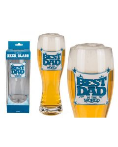 Out of the blue Beer Glass Best Dad 750Ml 24Cm