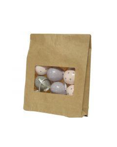 Foam Egg W Hanger 3Ass Assorted Dia2.4X4Cm