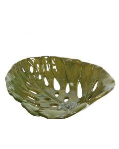 Dol Plate Leaf Design Green 25.5X26X7.5Cm