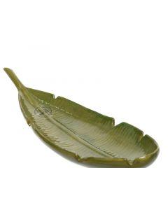 Dol Plate Leaf Design Green 15.2X45X9Cm