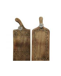 Mango Wood Chopping Board 2Ass Natural 20X2.5X50Cm