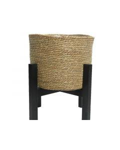 Cornleaf Basket O Wooden Legs Natural 41X30Cm