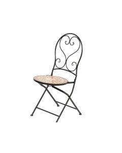 Andorra Mosaic Chair Outd Black 50X38X94Cm