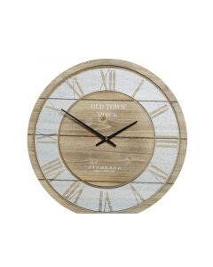 Mdf Clock Old Town Natural Dia68X4.5Cm