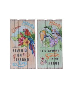 Mdf Board Tropical Bird 2Ass Multi 1.8X30X60Cm