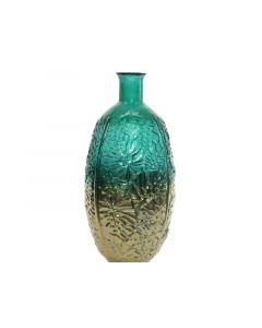 Recycle Glass Vase Leaf Emerald Green Dia29X59Cm