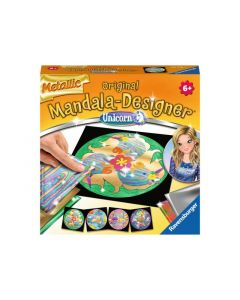 Mandala-Designer Mini Metallic Unicorn