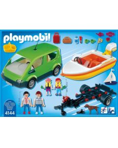 Playmobil 4144 Gezinsauto Met Speedboot