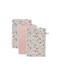 Little Dutch Washand - Pure Pink / Spring Flowers (Set Van 3)