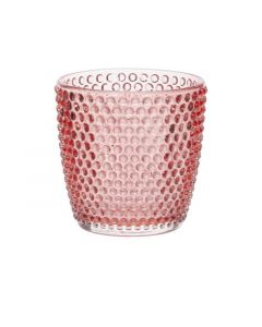 Theelichthouder Bubbles Rood 9Xh9Cm