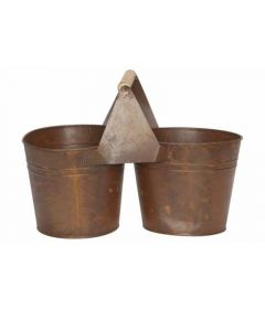 Duopot Rusty Roest 26X13Xh17Cm Rond Zink
