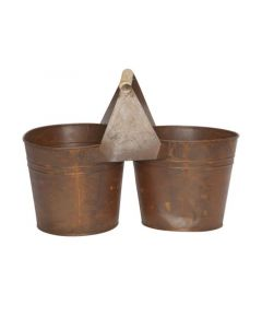 Duopot Rusty Roest 29X14,5Xh21Cm Rond Zi