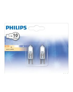 Philips Lamp Halo-Caps 7W G4 12V Cl 2Bc/10