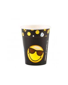 Smiley Emoticons 8 Bekers 250Ml