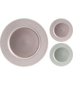 D Onderzetbord Pp, 33X33X1.5Cm,  Assortiment Per Kleur Per Stuk