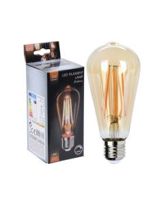 D Led Lamp St64, Dimbaar, Amber, Dia:6,4Xh14,3Cm