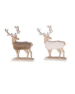 Dijk Wooden Standing Deer 12X4.7X19Cm Assortiment Per Stuk