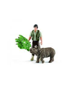 Schleich Ranger En Neushoorn Starterset