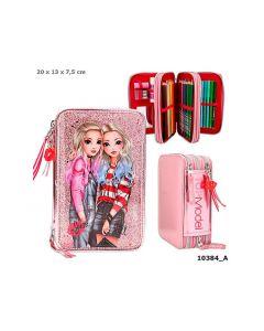 Topmodel 3-Vaks Etui Gevuld Friends Roze