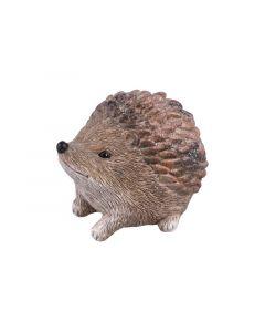 Hedgehog Polyresin Brown-Silver 7X10X7Cm