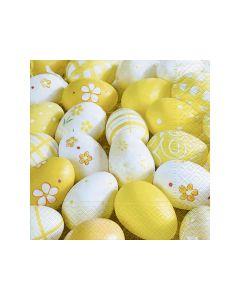 Servetten 33X33Cm 20St. Yellow Eggs