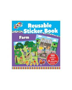 Galt Stationery - Reusable Sticker Book - Farm