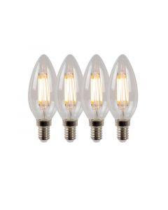 Lucide Lamp C35 Filament Dimbaar E14 4X 4W 360Lm 2700K