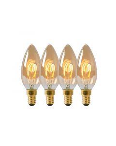 Lucide Lamp Led Filament Kaars4X 3W 115M 2200K Amber