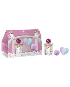 Eau My Unicorn Set Edt 100Ml + Bath Fizzers