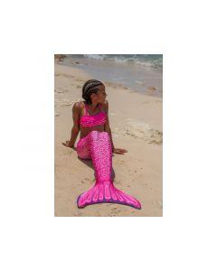 Finfun Zeemeerminstaart Malibu Pink Junior Monofin 8J M128-140