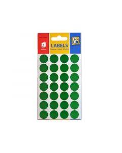 Etiketten Rond Groen 16Mm 3 Vel
