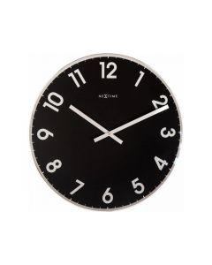 Nextime Wall Clock - Ø 43 Cm - Glass - Black - 'Reflect'