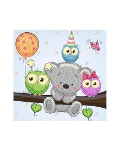 Rainbow Loom Crystal Card Kits Birthday Friends 18X18Cm