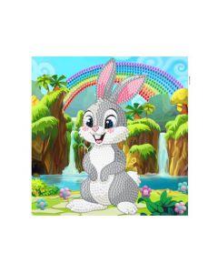 Rainbow Loom Crystal Card Kits Rabbit Wonderland 18X18Cm