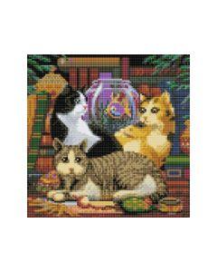 Rainbow Loom Crystal Art Kit 30X30Cm Cat Fishing