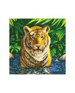 Rainbow Loom Crystal Art Kit Tiger Pool 30X30Cm Full Square
