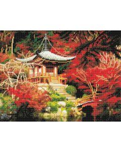 Rainbow Loom Crystal Art Kit Japanese Temple 40X50Cm Full Square