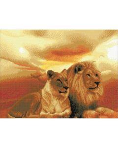 Rainbow Loom Crystal Art Kit Lions Of The Savanna 40X50Cm Partial Square