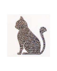 Rainbow Loom Crystal Stickers Cat Silver
