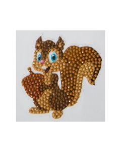 Rainbow Loom Crystal Stickers Smiling Squirrel