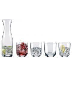 Aerts Waterset 5Delig Karaf + 4 Glazen
