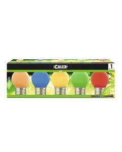 Calex Party Led Ball-Tray 240V 1W 12Lm E27 5 Color