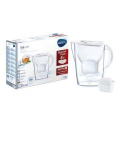 Brita | 1024041 | Waterfilter Fill & Enjoy Marella Wit 2.4L Met 6 Maxtra+ Filterpatronen