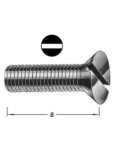 Metaalbouten Platte Kop + Moer M 6 X 60