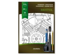 Tekenblok Bristol A4 225Gr