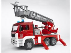 Bruder 02771 Man Fire Truck Ladder Sound Light