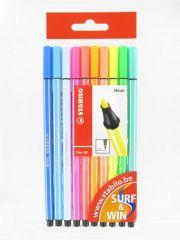 Stabilo Pen 68 Neon Pochet 10St