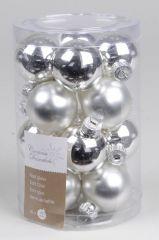 Mini - Glasballetjes 35 Mm Zilver