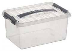 Q-Line Opbergbox Medium 6 L Transparant